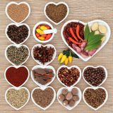 Spice and Herb Ingredients Royalty Free Stock Photos