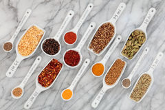 Spice and Herb Measurement Royalty Free Stock Photo