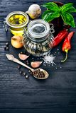 Spice and with herb on old Royalty Free Stock Photo