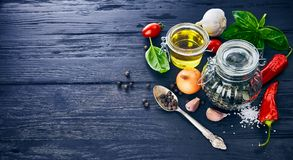 Spice and with herb on old Stock Photography