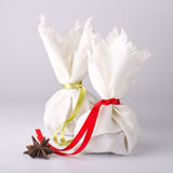 Spice and herb sachet bags Stock Photography
