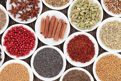 Spice and Herb Selection Royalty Free Stock Photography