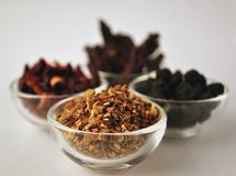 Spice and herbal tea blends Stock Images