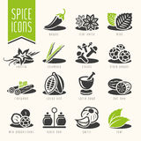 Spice icon set. Herbs can be used in studies such as the nature and quality icon set Stock Image