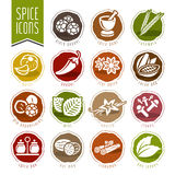Spice icon set Royalty Free Stock Photography