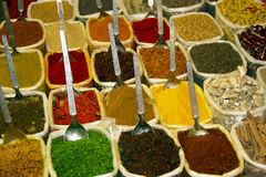Spice Indian bazaar  Anjuna Market  Goa Royalty Free Stock Images
