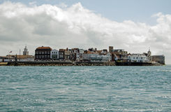 Spice Island, Portsmouth. View from the sea of the historic Spice Island, also known as Portsmouth Point in Portsmouth, Hampshire.  The site of breweries and Royalty Free Stock Photos