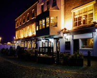 The Spice Island public house at nighttime Stock Photography