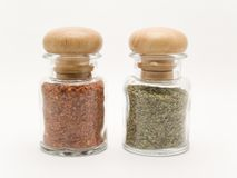 Spice jars. 