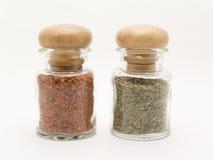 Spice jars Royalty Free Stock Photo