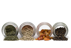 Spice jars. Royalty Free Stock Image