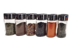 Spice jars Stock Image