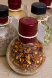Spice jars. Closeup Stock Image