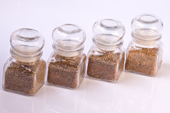 Spice jars Royalty Free Stock Photos