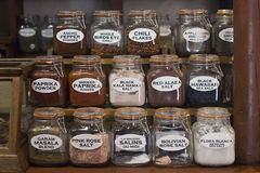 Spice Jars Collection Stock Images