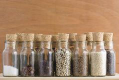 Spice jars collection Royalty Free Stock Images