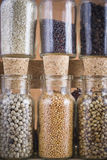 Spice jars collection Royalty Free Stock Photography