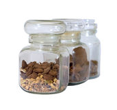 Spice jars isolated Royalty Free Stock Photo