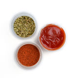 Spice and ketchup Royalty Free Stock Photo