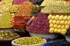Spice market. A shot made in a food market in morocco Stock Image