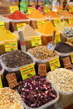 Spice market in Istanbul. Displays of products on offer in the world famous Spice market in Istanbul Turkey Royalty Free Stock Photography
