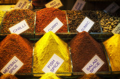 Spice Market, Istanbul. Several spices, historical spice market Stock Photo