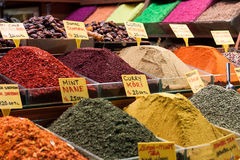 Spices for sale at a market Stock Image