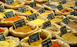 Spice market in Italy  Royalty Free Stock Photo