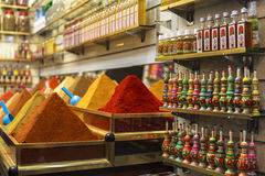 SPICE MARKET IN MARRAKECH Royalty Free Stock Image