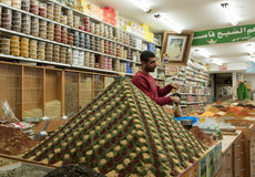Spice Market Pyramid at local shop in Jerusalem Israel Royalty Free Stock Photo