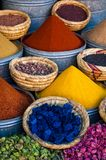 Spice market in the streets of Marrakesh Royalty Free Stock Photography