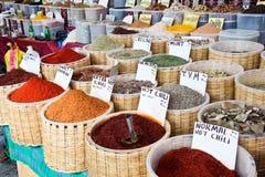 Spice market in Turkey Royalty Free Stock Photo