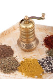 Spice mill made of brass Stock Images