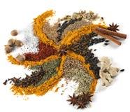 Spice mix. Background closeup on white Stock Image