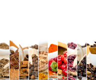 Spice Mix. Photo of colorful spice mix with white space for text stock photo