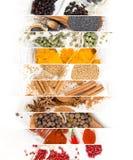 Spice Mix Stripes Stock Image