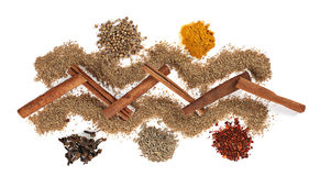 Spice mix on white Stock Photos