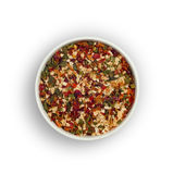 Spice mix on white background. Royalty Free Stock Images