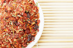 Spice mixture for rice courses closeup Stock Photography