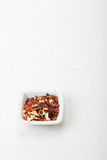 Spice mixture for soup above view Royalty Free Stock Photo