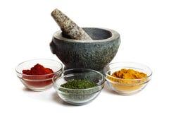 Spice mortar Stock Photos