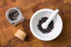 Spice in mortar and pestle Royalty Free Stock Image