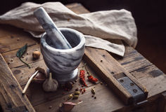 Spice and Mortar Royalty Free Stock Images