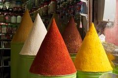 Spice mountain. Mountain species shop Marrakech souk. Morocco Stock Photography