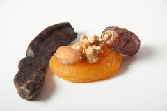 Spice Nuts carob dat dried apricots and almond Stock Photo