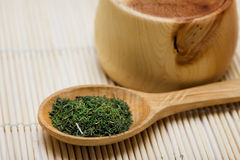Spice Of Thyme In Spoon Stock Photos
