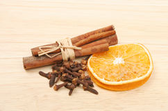 Spice and orange Royalty Free Stock Photos