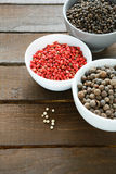 Spice pepper in bowls Royalty Free Stock Image