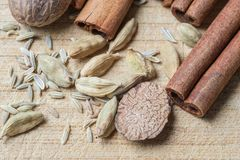 Spice potpourri - closeup look royalty free stock photos