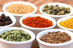 Spice pots Royalty Free Stock Image
